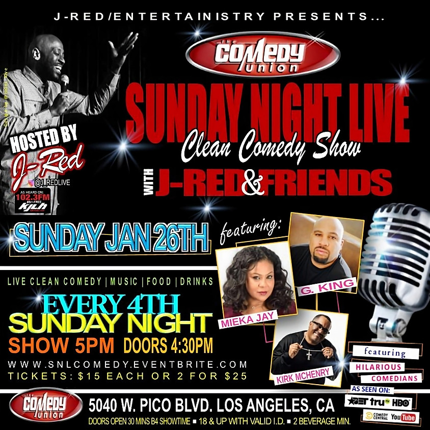 *SPECIAL EVENT* SUNDAY NIGHT LIVE - 5:00 PM