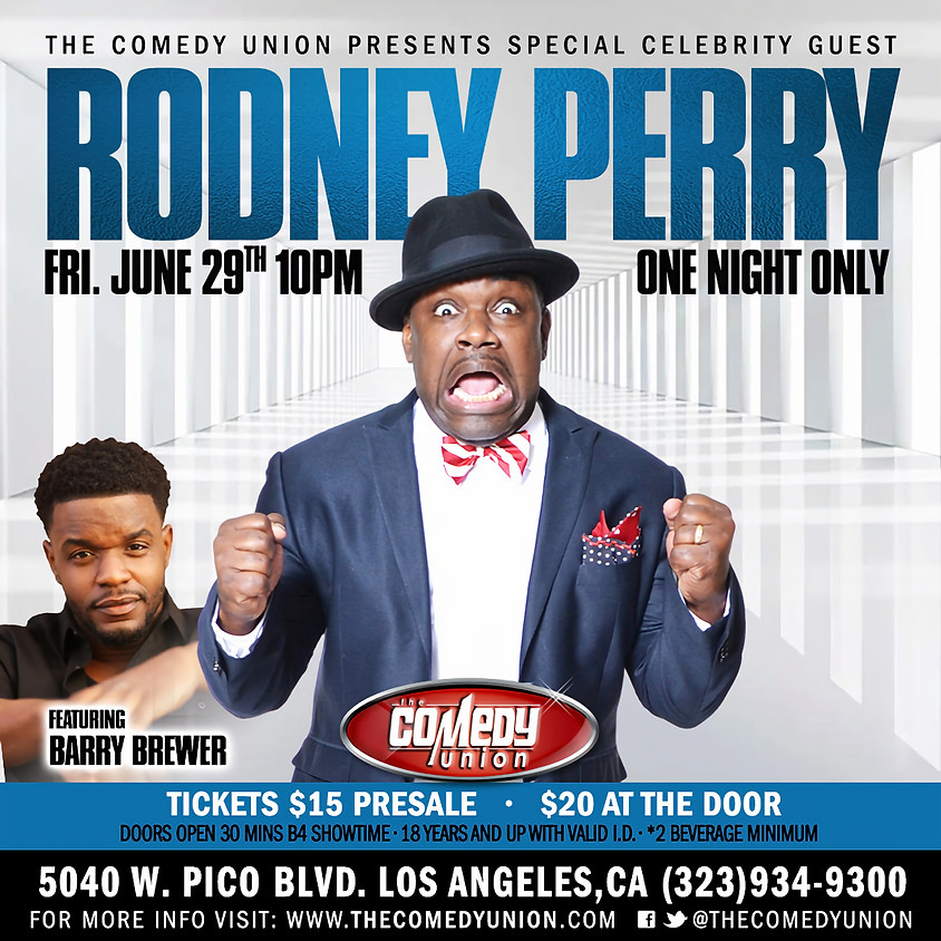 *SPECIAL EVENT* RODNEY PERRY - ONE NIGHT ONLY (PRESALE TICKET OPTION)