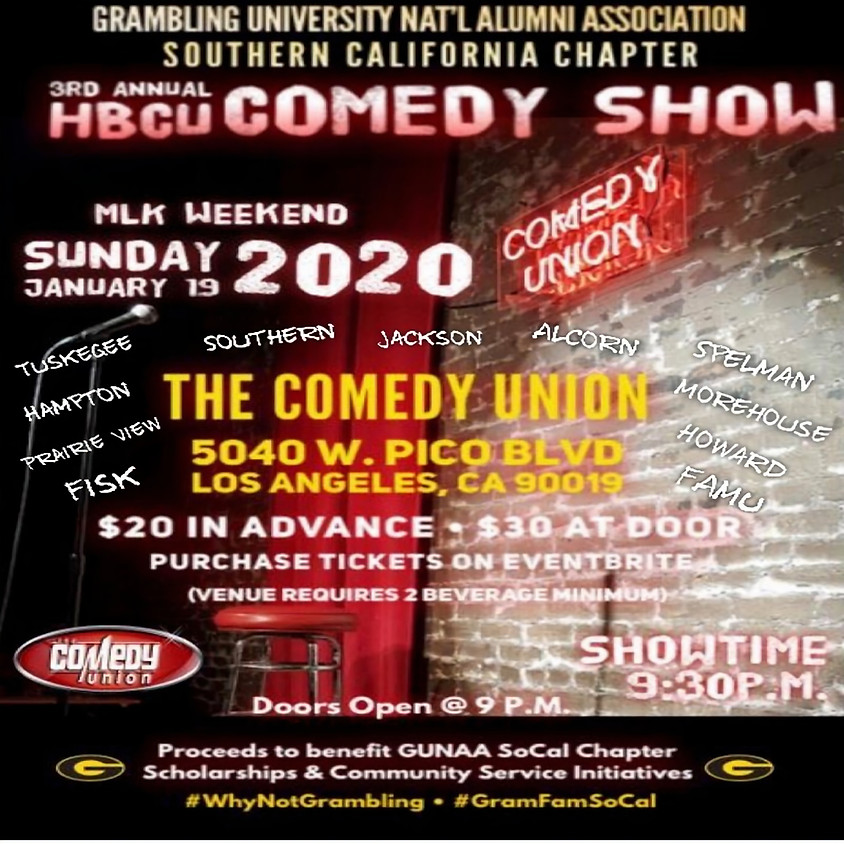 *SPECIAL EVENT* 3rd Annual HBCU Comedy Show - 9:30 PM