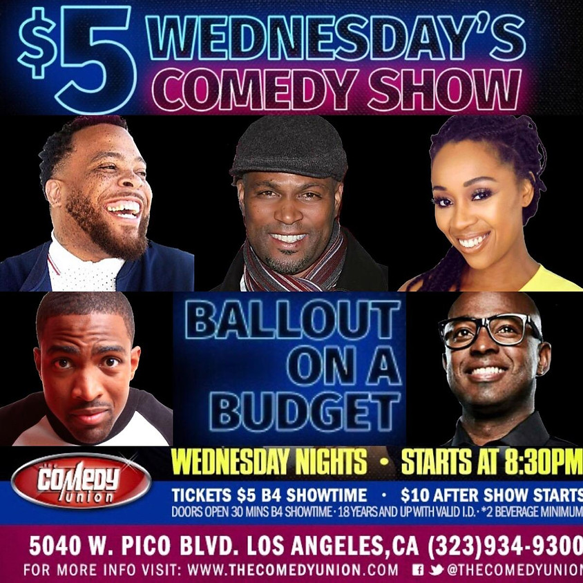 $5 Wednesday's Comedy Show w/ TAHIR MOORE - 8:30 PM