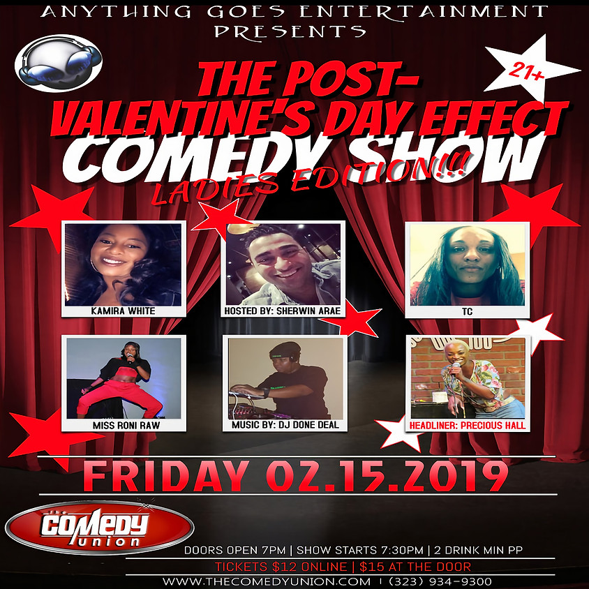 *SPECIAL EVENT* Anything Goes Entertainment presents The Post-Effect Valentine's Day Comedy Show - 7:30 PM