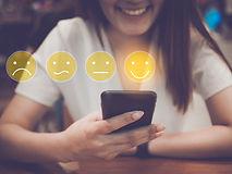 Customer Experience Concept, happy Busin