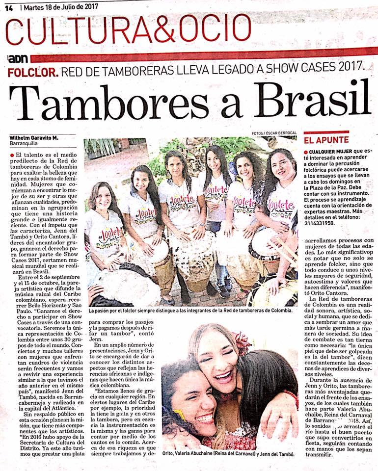 Tambores a Brasil