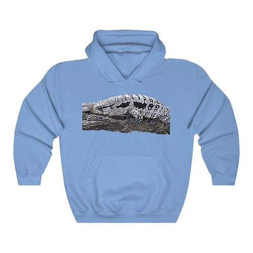Blizzard Blue Tegu Lizard Unisex Hooded Sweatshirt, Reptile, Lizard, Hoodie