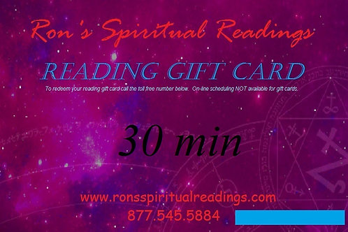 Gift Card - 30 minute reading