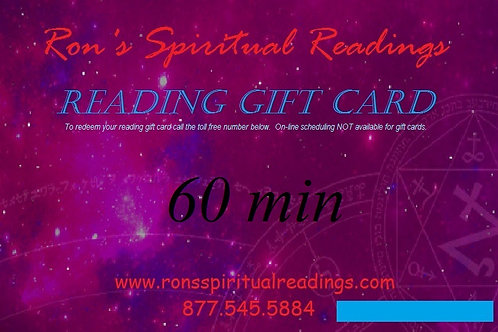 Gift Card - 60 minute reading
