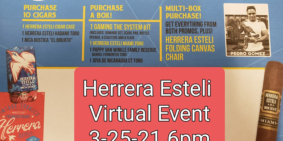 DREW ESTATES HERRERA ESTELI VIRTUAL EVENT
