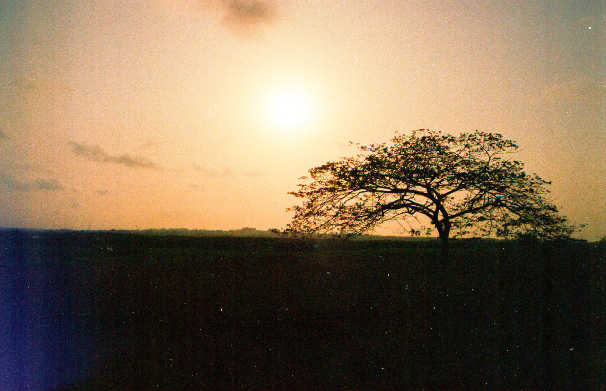 Nature sunset Ghana argentique