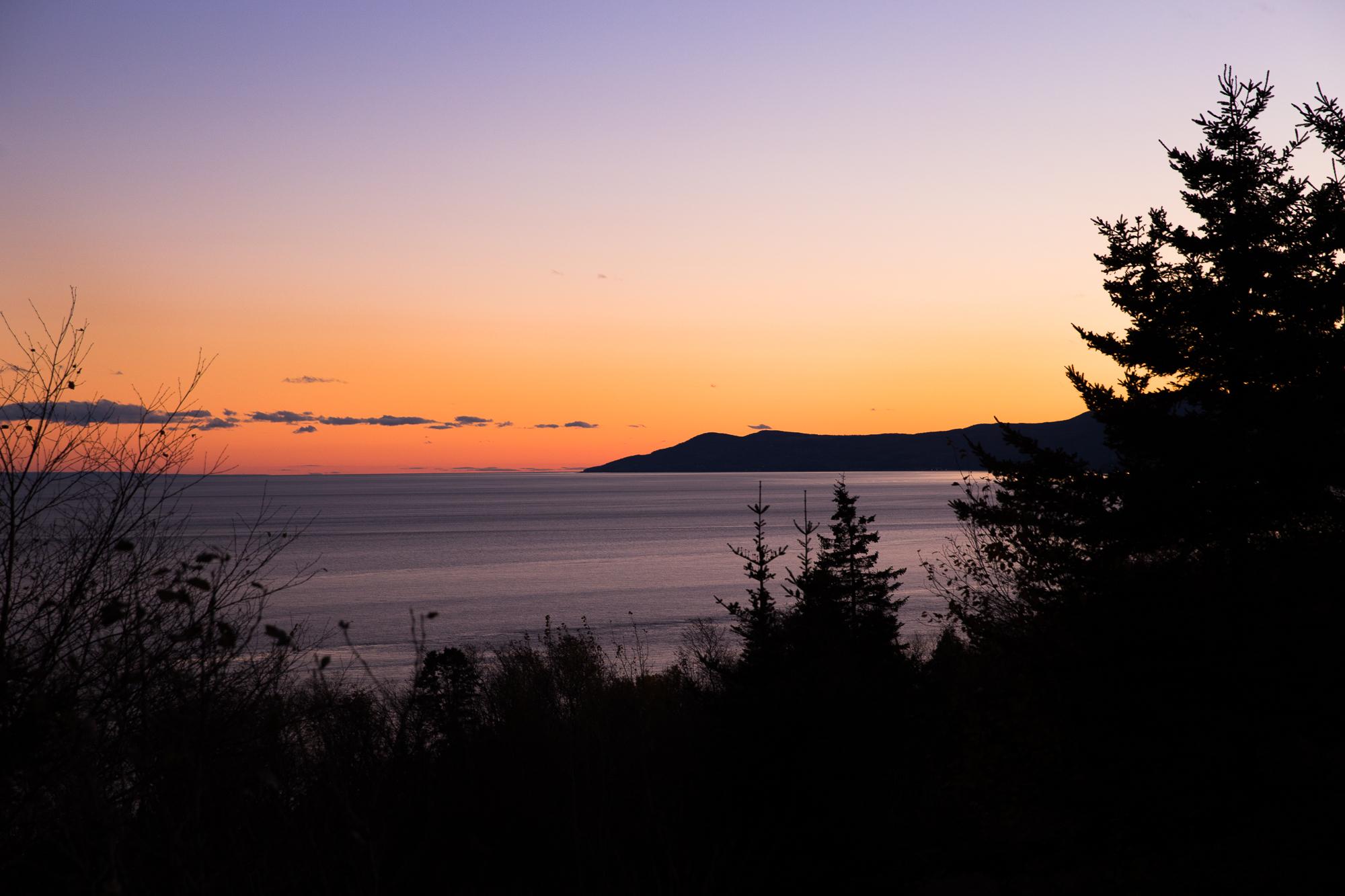 Nature mer Canada Sunset