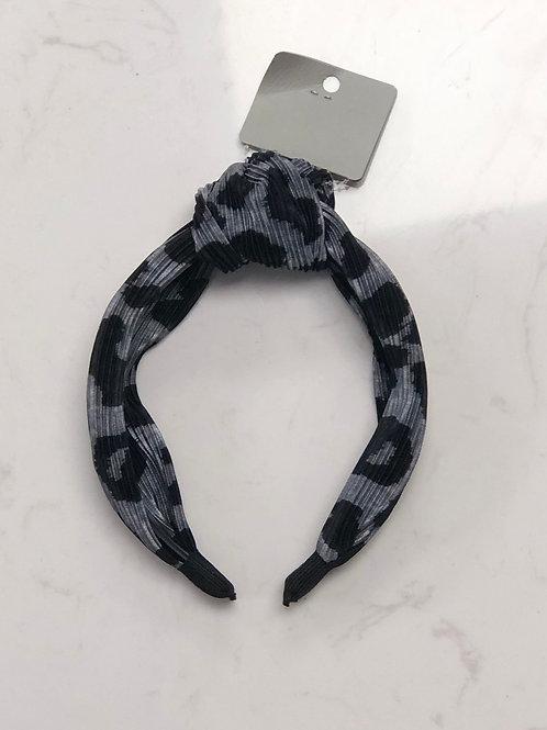 Gray Leopard Headband