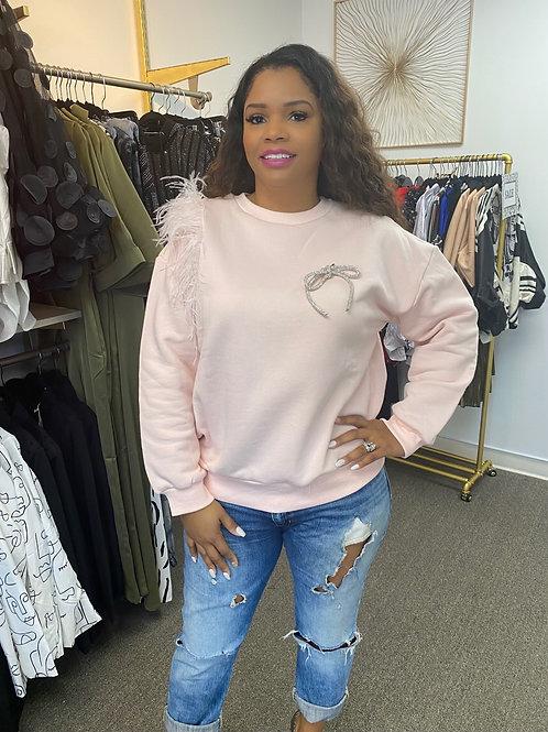 Sequin Bow Sweatshirt