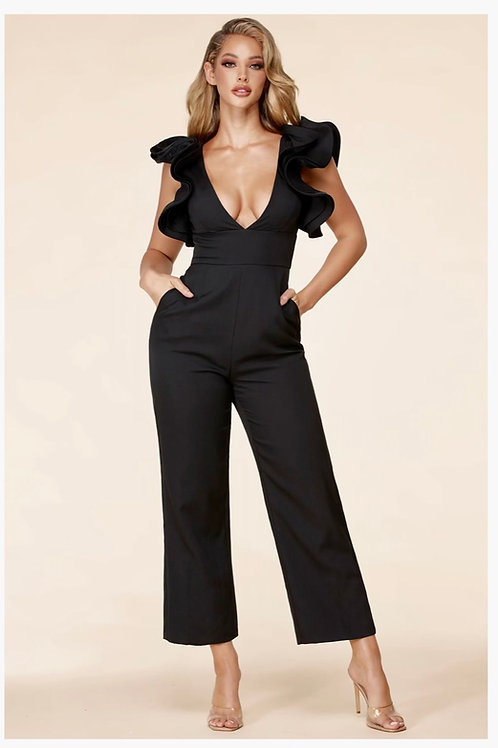 Ruffle Arm Jumpsuit