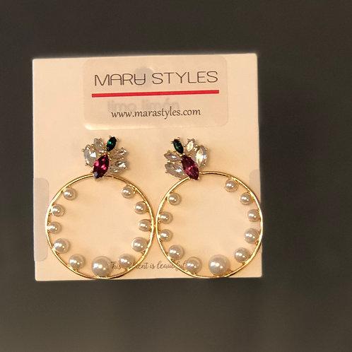 Gem and Pearl Earrings