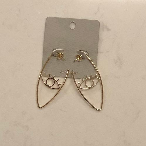 Teardrop Eye Earrings
