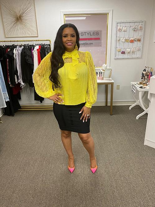 Yellow Lace Blouse