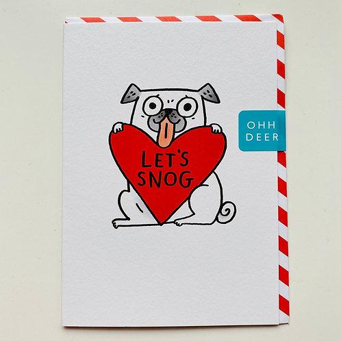 Let's Snog greeting card