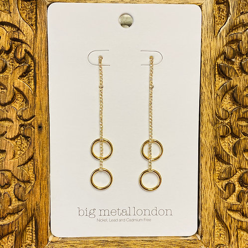 Ludivine Slinky Sparking Drop Earrings