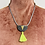 Thumbnail: Stella and Wolf Necklace with neon tassel