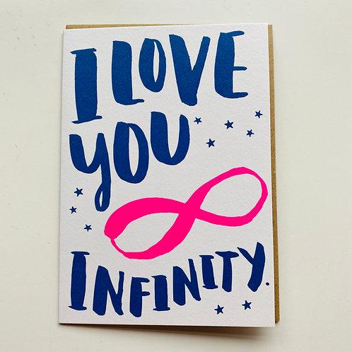 I love you infinity Greeting card