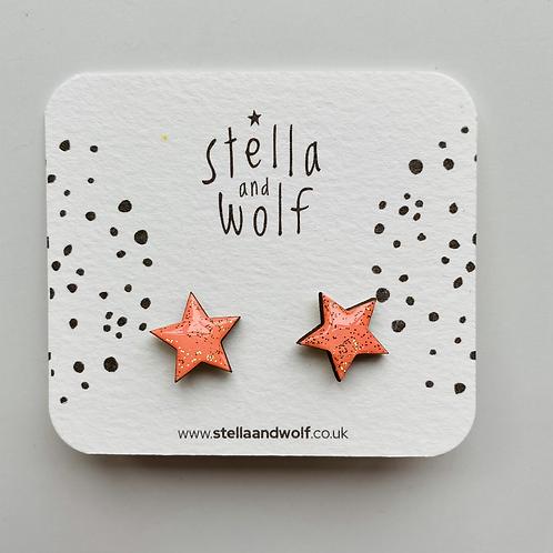 Stella & Wolf Star Earrings