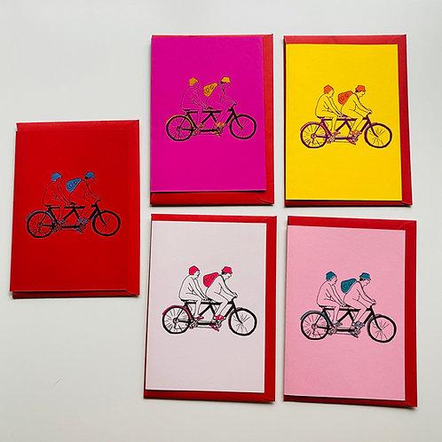 Unicycle Greetings Card