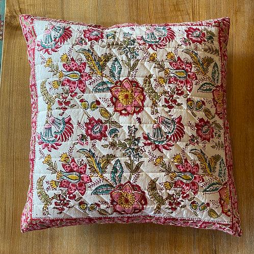 Floral Block Print Cushion