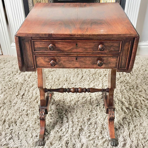 Regency Rosewood Pembroke sewing table     £425