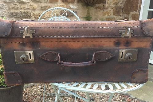 Vintage leather suitcase                                £45