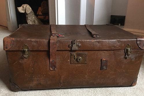 Large vintage leather suitcase   £55