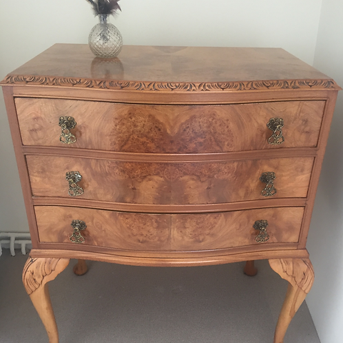 Burr Walnut Chest of Drawers         £545.00