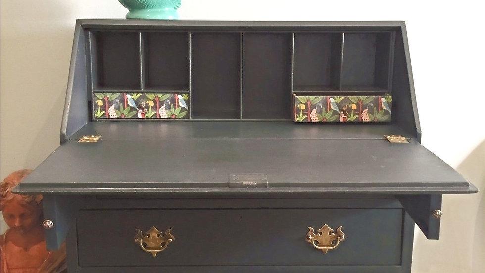 Painted vintage bureau