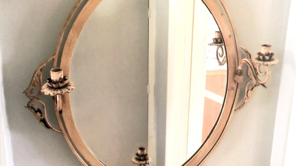 French mirror with candle sconces