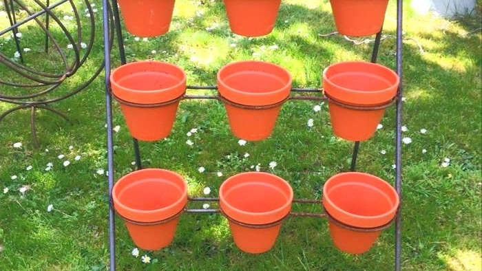 Pot stand including pots