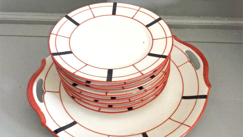 French tea plates