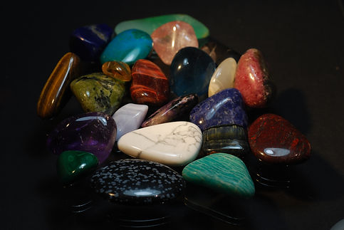Minéraux de collection - pierres roulées