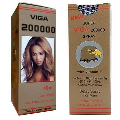 VIGA 200000 DELAY SPRAY For Men 45ml Made in Germany
