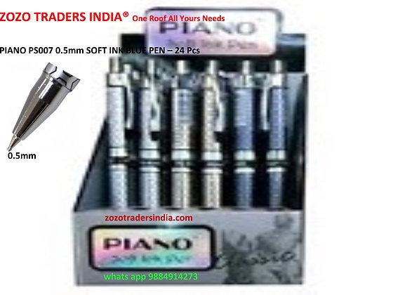PIANO PS-007 0.5mm Soft Ink Blue Pen 24 pcs