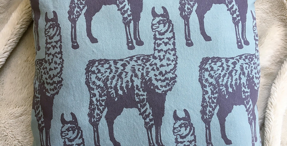 Llama Pattern Decorative Pillow