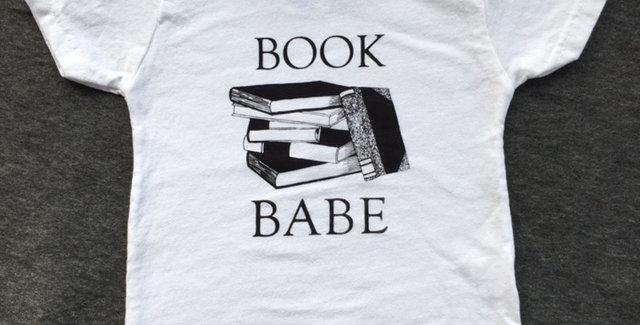 """Book Babe"" Baby Tee"