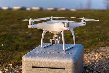DJI Phantom 4 drone ready for take off s