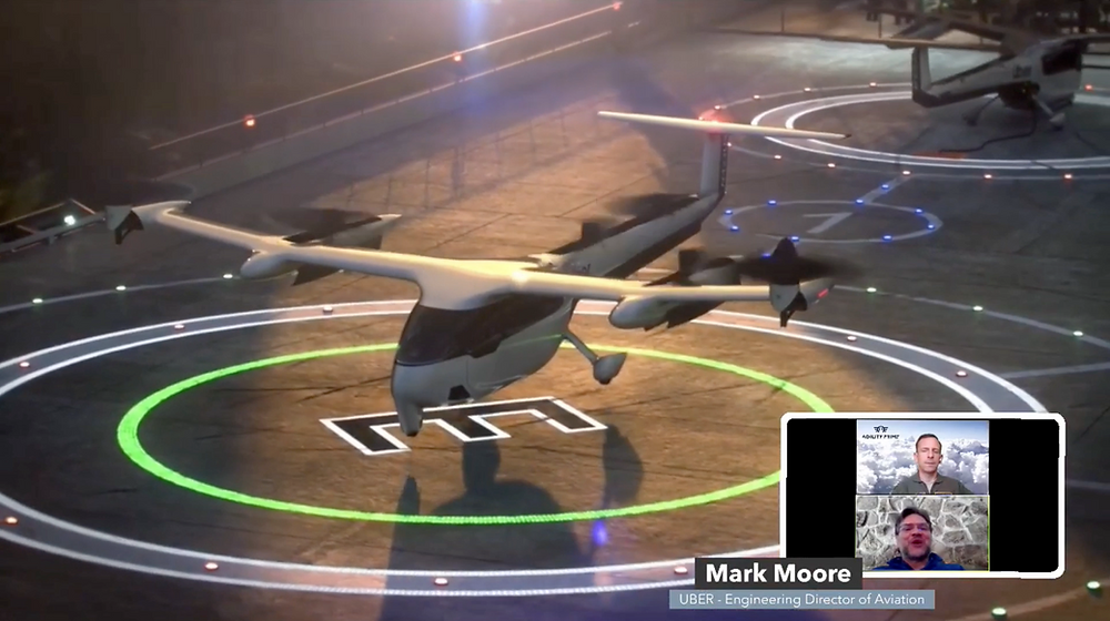 Uber Elevate Mark Moore Agility Prime eVTOL - Osinto Aviation Aerospace Intelligence
