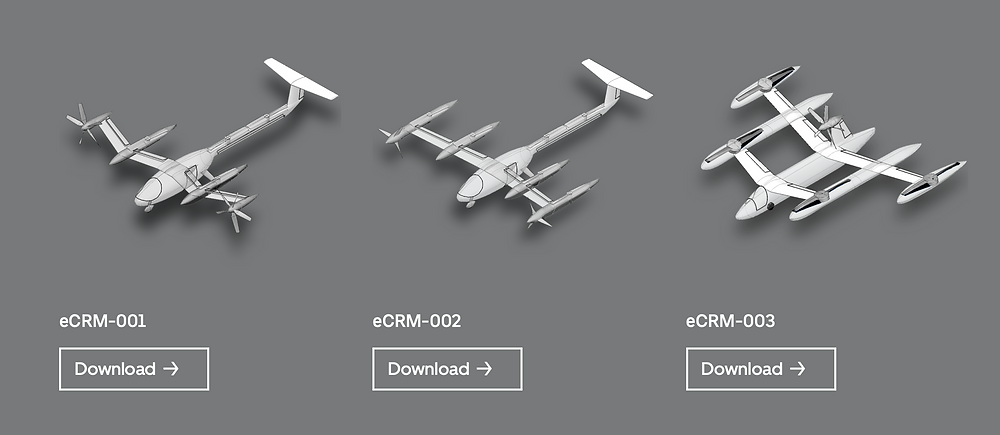 Uber Elevate Vehicle Common Reference Models