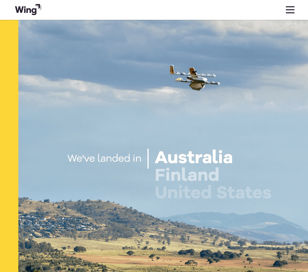 Wing drone delivery Osinto aerospace intelligence