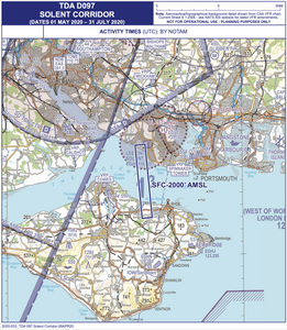 Solent airspace Isle of Wight coronavirus drone delivery - Osinto aviation aerospace intelligence