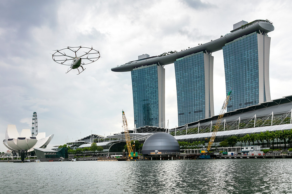 VoloCity Volocopter Marina Bay Singapore - Osinto Aerospace Intelligence