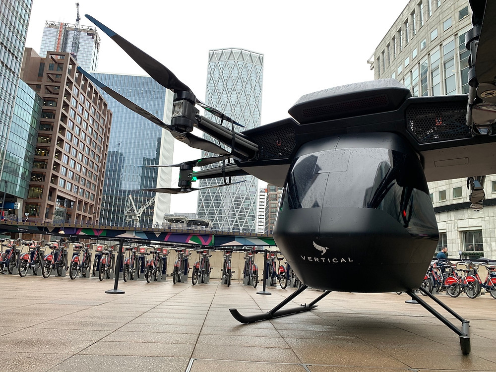 Vertical Aerospace Seraph - Canary Wharf London - Osinto aerospace intelligence