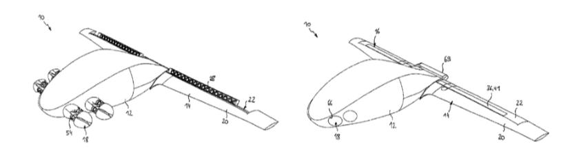 Lilium Eagle jet patent filing schematic