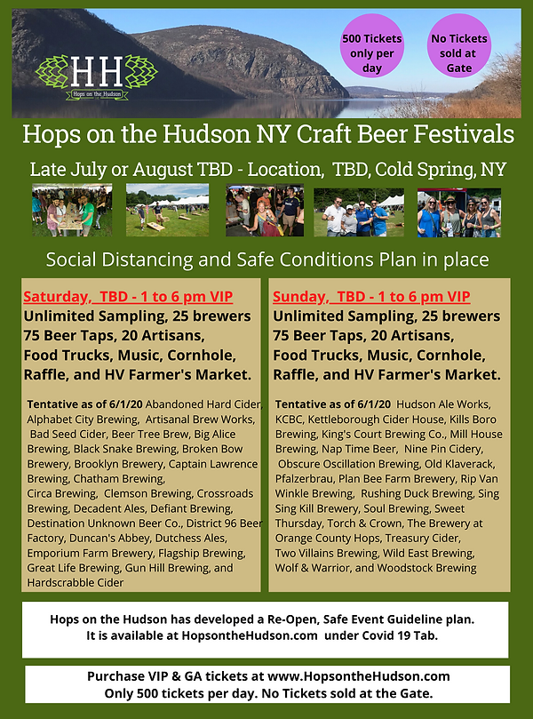 Flyer for brewers festival as of june 1