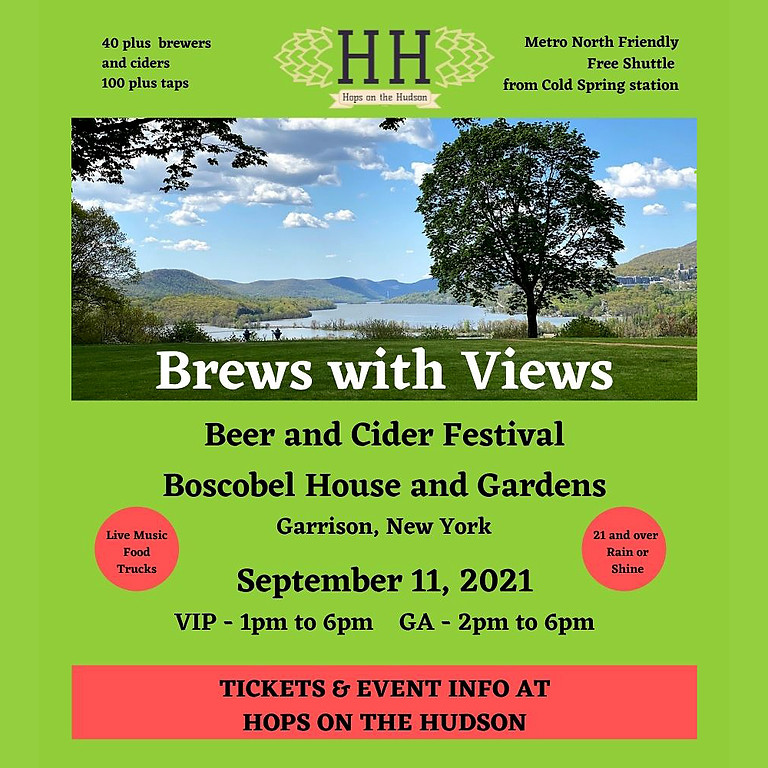 Brews With Views Beer and Cider Festival at Boscobel House and Gardens