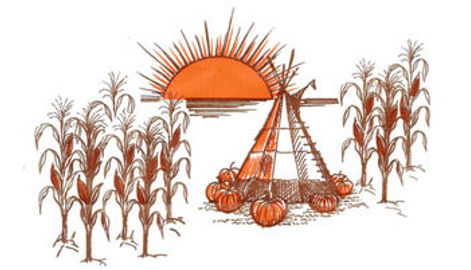 Baumans teepee autum harvest logo